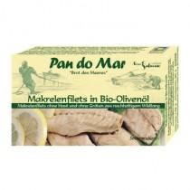 Makrelenfilets 120g ohne Haut, ohne Gräten in Bio-Olivenöl