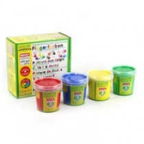 Fingerfarben 4er Set A (rot, gelb, grün,blau)