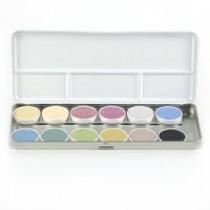 Naturfarbkasten mit 12 Farben (Wasserfarben aus pflanzlichen Grundstoffen)