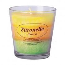 Stearinkerze im Glas Zitronella