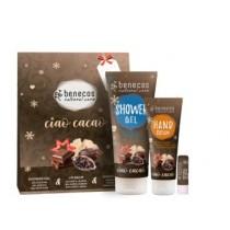 Geschenkset ciao cacao (je 1x Shower Gel 200ml, Handcreme 75ml, Lip Balm 4,8g)