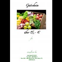 Gutschein über 15€
