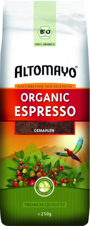 Espresso Altomayo gemahlen 250g