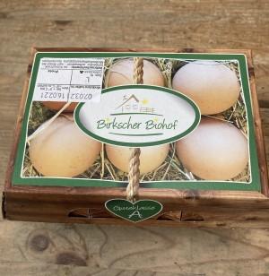 Eier 6er Pack (Birkscher Biohof) Größe L