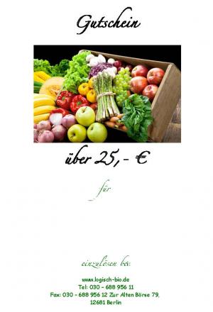 Gutschein über 25€