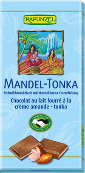 Vollmilch Schokolade Mandel-Tonka -Rapunzel -