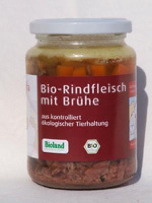 Rindfleisch mit Brühe 320g  Glas