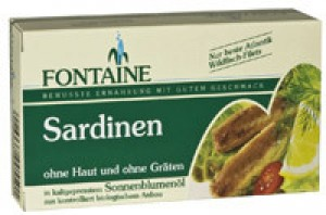 Sardinen ohne Haut in Sonnenblumenöl 120g